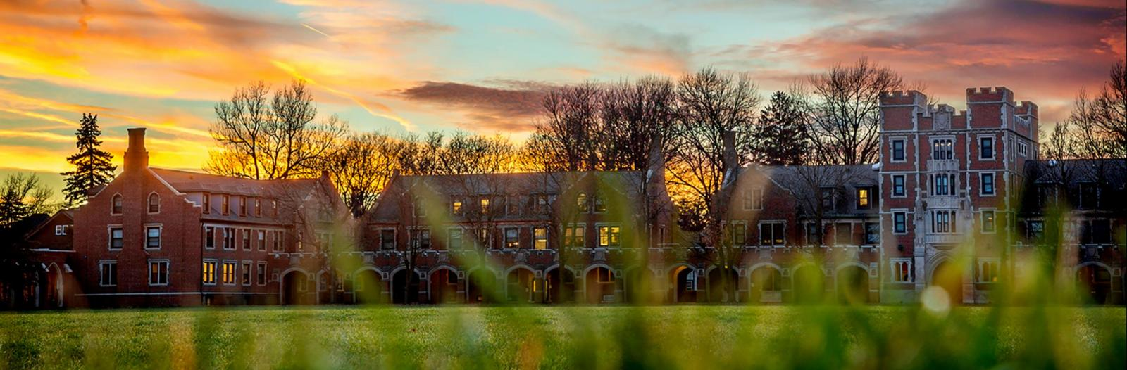 North campus at sunset