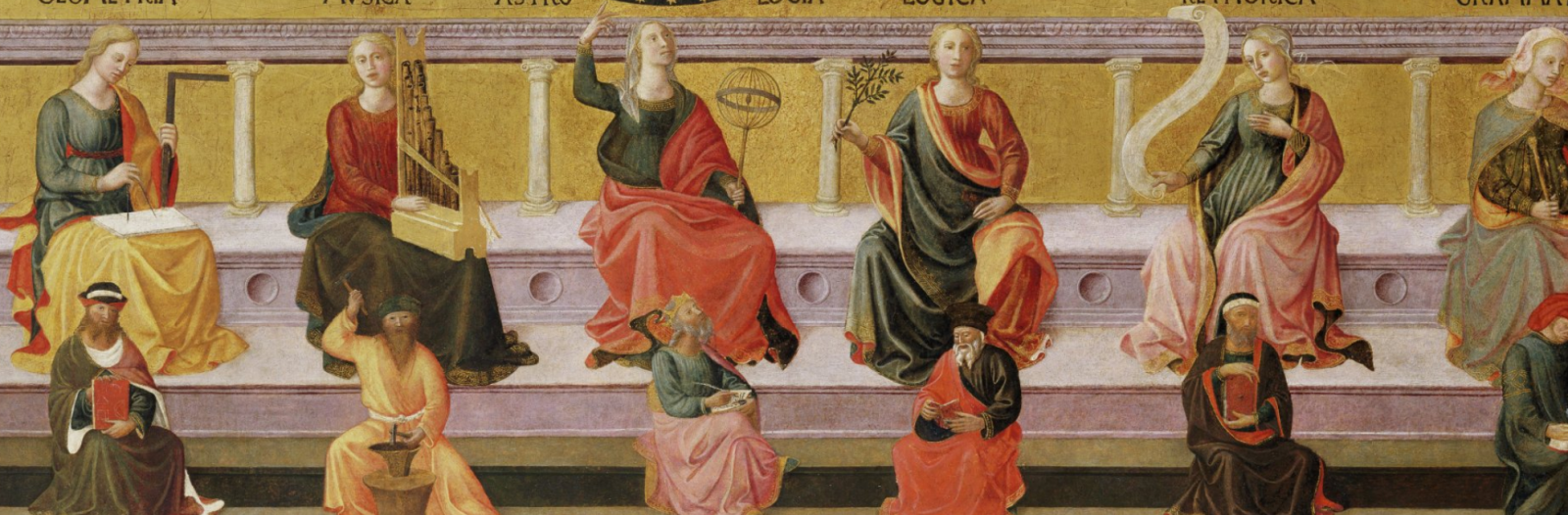 Seven Liberal Arts painting by Michelino, c. 1460