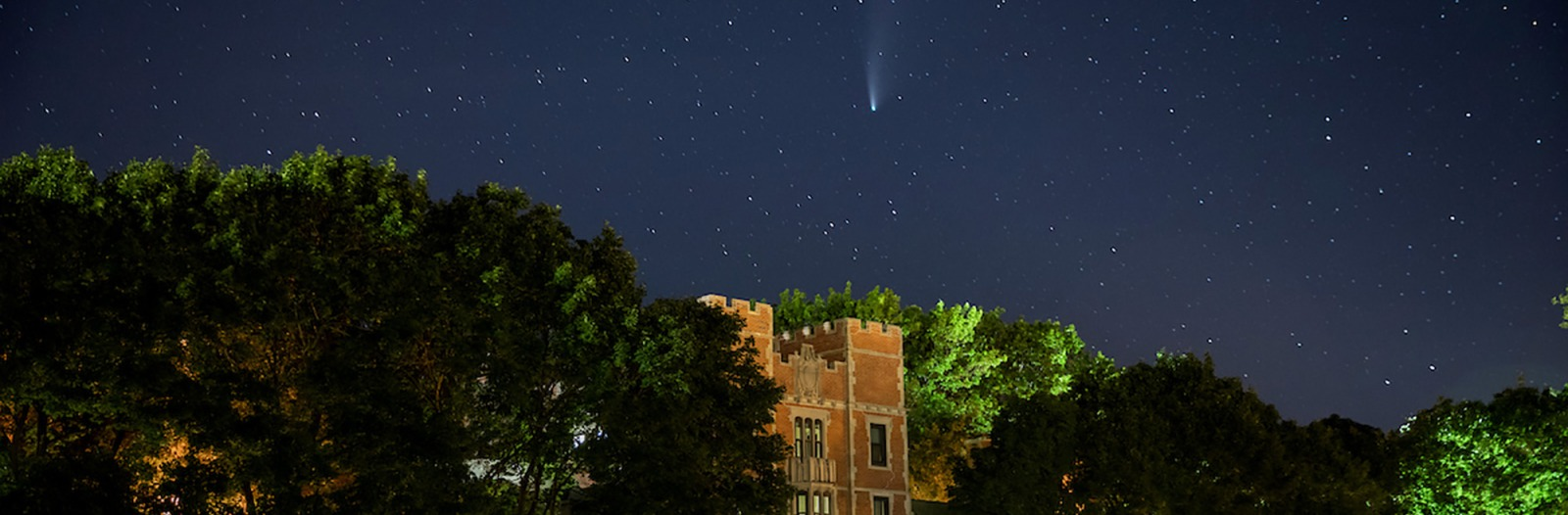Comet NEOWISE over north campus