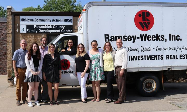 MICA Mobile Resource Team poses with the Ramsey Weeks Truck
