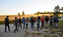 Global Learning Program touring Conard Environmental Research Area