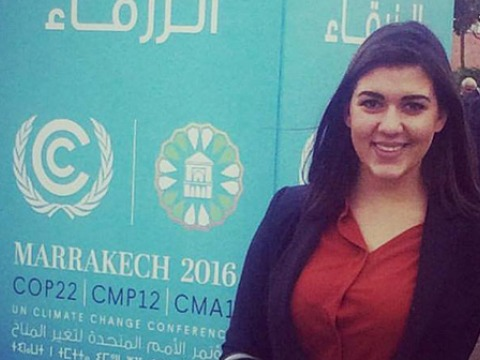 Teodora Cakarmis '17 at the Marrakech 2016 COP22 Conference