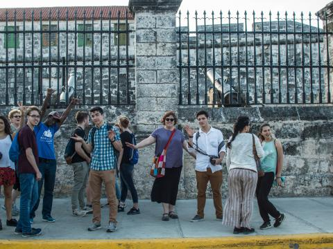 Group of students and faculty in Cuba
