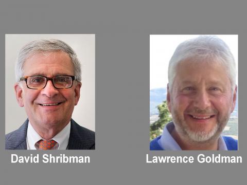 David Shribman and Lawrence Goldman portraits