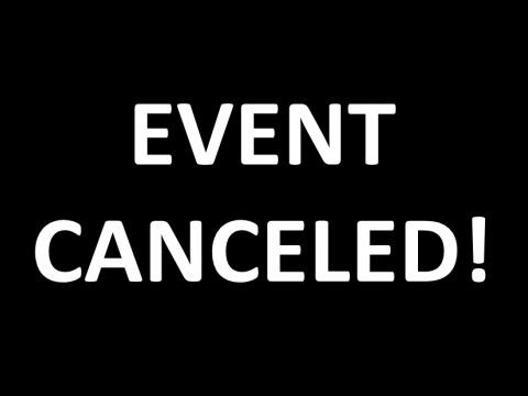 January 29 event canceled