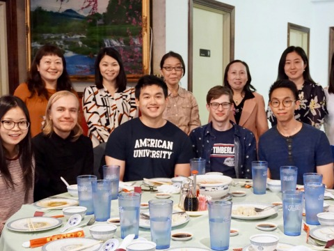 Dept. of Chinese and Japanese students and faculty graduating senior celebration