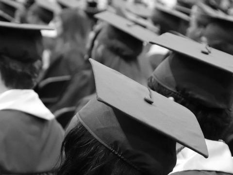 Graduates wearing mortar boards