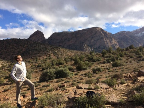 Gray Streetman in the Atlas Mountains