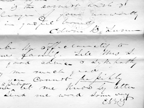 Letters from Edwin B. Turner, Iowa Band member