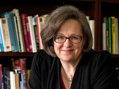 Anne Harris in her office