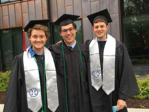 left to right: Sam Rueter, Will Telingator and Zeke Miller