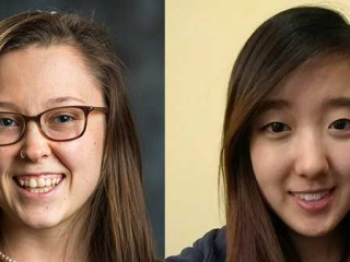Emily Howe '16 and Hannah Hwang '18