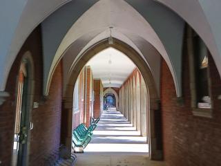Campus loggia arches