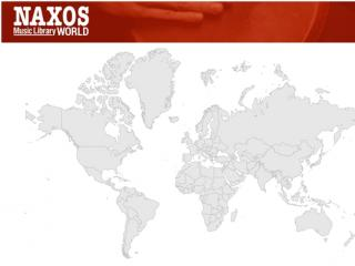 Naxos Music Library World Logo with World Map