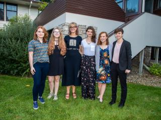 six scholarship recipients