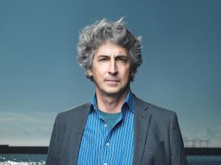Alexander Payne on a beach