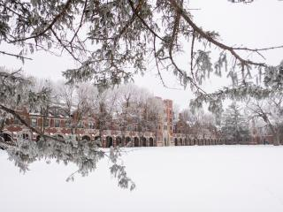 North campus in the snow