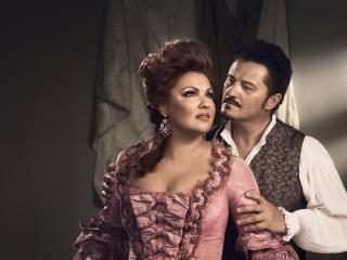 Scene from Adriana Lecouvreur opera
