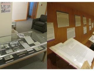 Exhibits in Burling Library