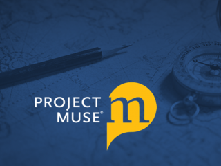 ProjectMuse logo on background with pencil, compass and map