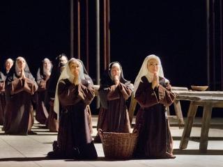 Scene of nuns kneeling