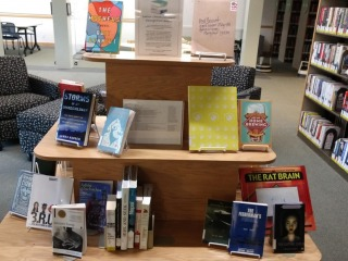 2019 Senior Library Student Recognition Books display