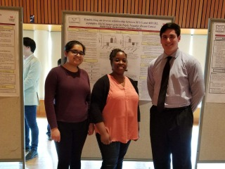 Goyal, Bailey, and Gubner at poster session