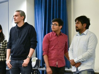 Nikunj Agrawal and three other participants at Impact Fellowship