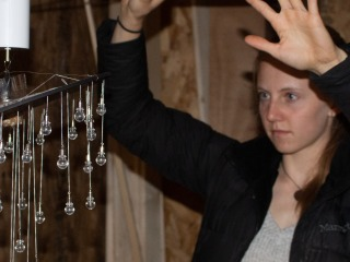 Sarina Kopf '22 displays her sculpture