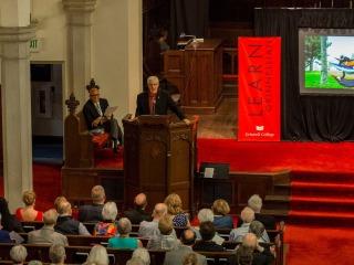 Alumni Awards ceremony in Herrick Chapel