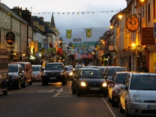 Busy street in Killarney Ireland