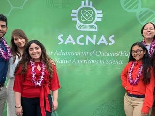 Left to right: Rande, Alicia, Ruby, Luz, Daniella, and Breana at the SACNAS Conference