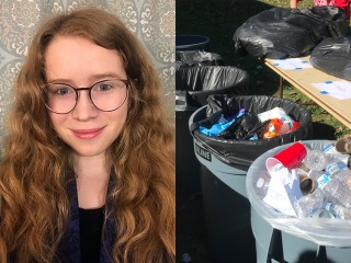 Sharene Gould Dulabaum '22 and excess waste on campus