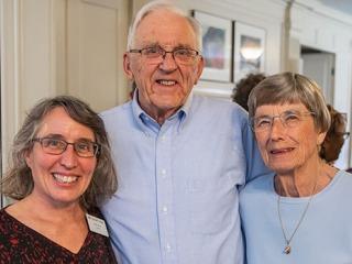 Leslie Lyons, Luther Erickson, and Jenny Erickson