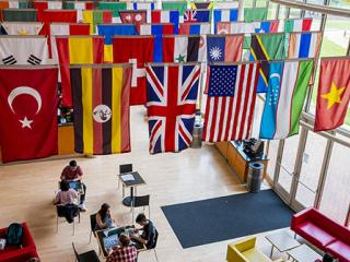 Flags in Spencer Grill