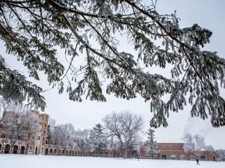 North campus in the winter