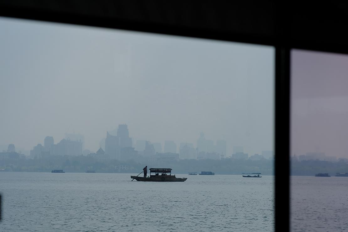 Boat on Hangzhou's West Lake