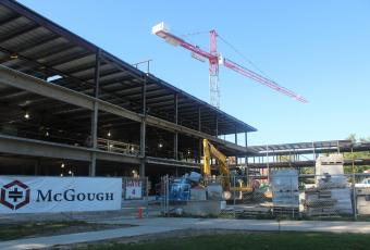 Construction continues on the new HSSC complex.  This will be the new home of the Anthropology department when finished.