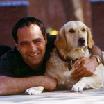 Sanjay Khanna and dog