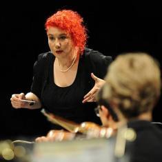 Jaemi Loeb conducting