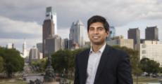 Ahsan Rahim against the city skyline
