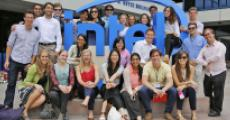 Grinnell students visit the Intel headquarters