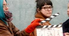 Amanda Gotera '09 (middle) with 2nd Assistant Camera, Eloise Santa Maria (left) and actress Nya Garner