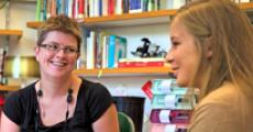 Audrey Devine-Eller and student