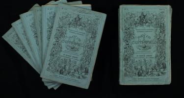 Seven serial issues of the first edition of David Copperfield, by Charles Dickens