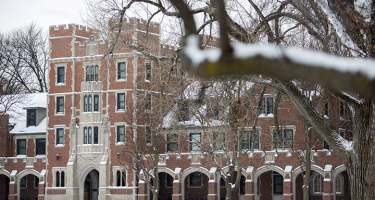 Snow on and around the east face of North Campus