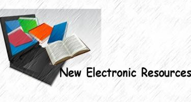 New Electronic Resources