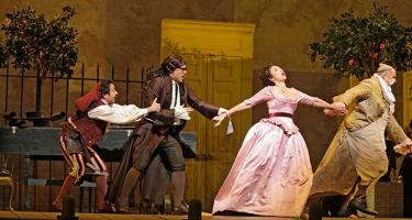 Scene from Met Opera's The Barber of Seville