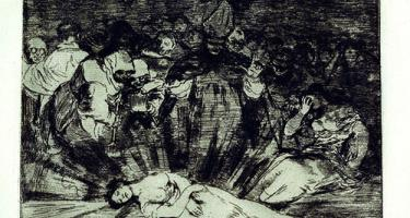 """The Truth Has Died"" (Murió la verdad) by Francisco de Goya y Lucientes"