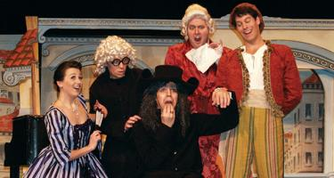 Scene from Opera Iowa's The Barber of Seville